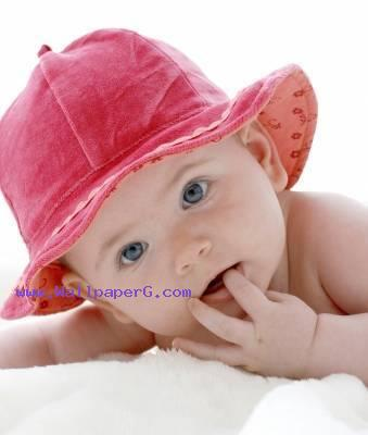 Baby in pink hat ,wide,wallpapers,images,pictute,photos