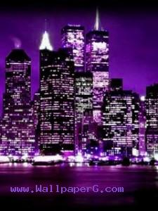 Purple city ,wallpapers,images,