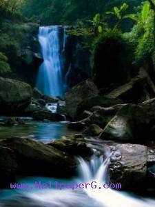 Blue waterfall ,wide,wallpapers,images,pictute,photos