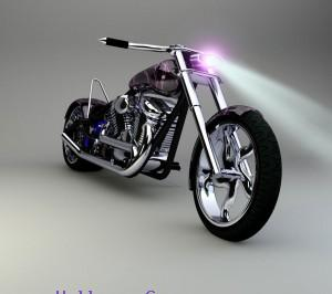 Bike with light