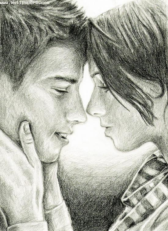Sketch Of Love Couple