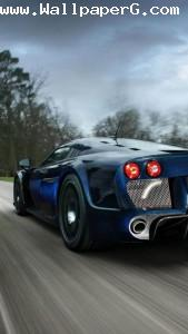 Blue car ,wide,wallpapers,images,pictute,photos