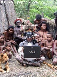 Jungle people got laptop