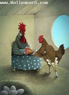 Funny rooster