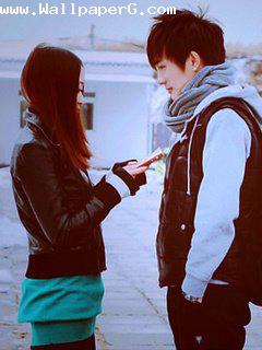 Girl purposing boy