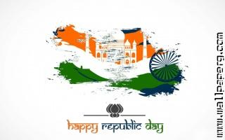 Abstract design of indian flag for happy republic day 2015 1