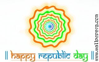Happy republic day 2015 rangoli design hd wallpaper 1024x640