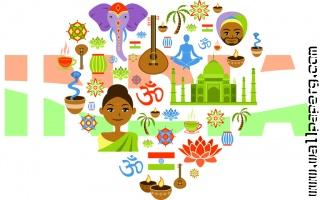 Indian calcutre symbols republic day wallpaper 1024x640