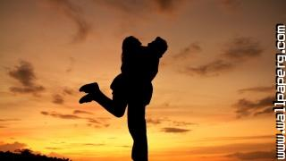 Couple hugging in sunset new hot wallpaper 1024x576