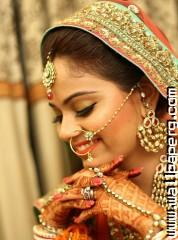 Beautiful bridal posture