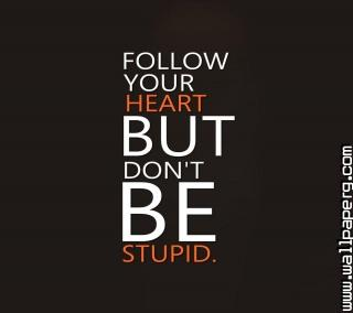 Follow your heart not min