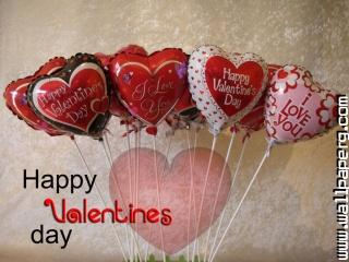 Latest valentines day balloons wallpaper download 1024x768
