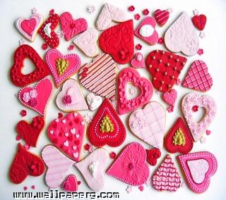 Valentine coockies(1) ,wide,wallpapers,images,pictute,photos