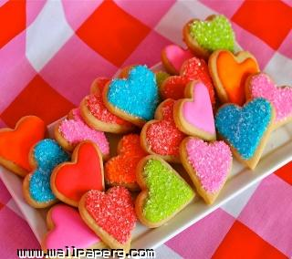Valentine coockies ,wide,wallpapers,images,pictute,photos