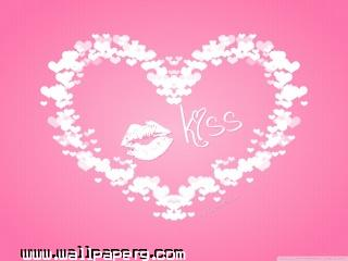 Valentine s day kiss wallpaper