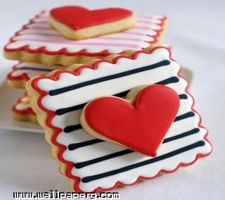 Valentines cookies ,wide,wallpapers,images,pictute,photos