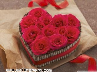 Red roses heart wallpaper ,wide,wallpapers,images,pictute,photos
