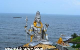 Lord shiva huge statue near sea ,wide,wallpapers,images,pictute,photos
