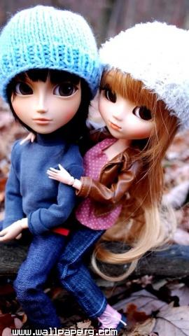 Couple doll iphone 5 wallpaper