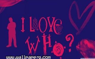 I love who wallpaper