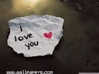 I love you message wallpaper