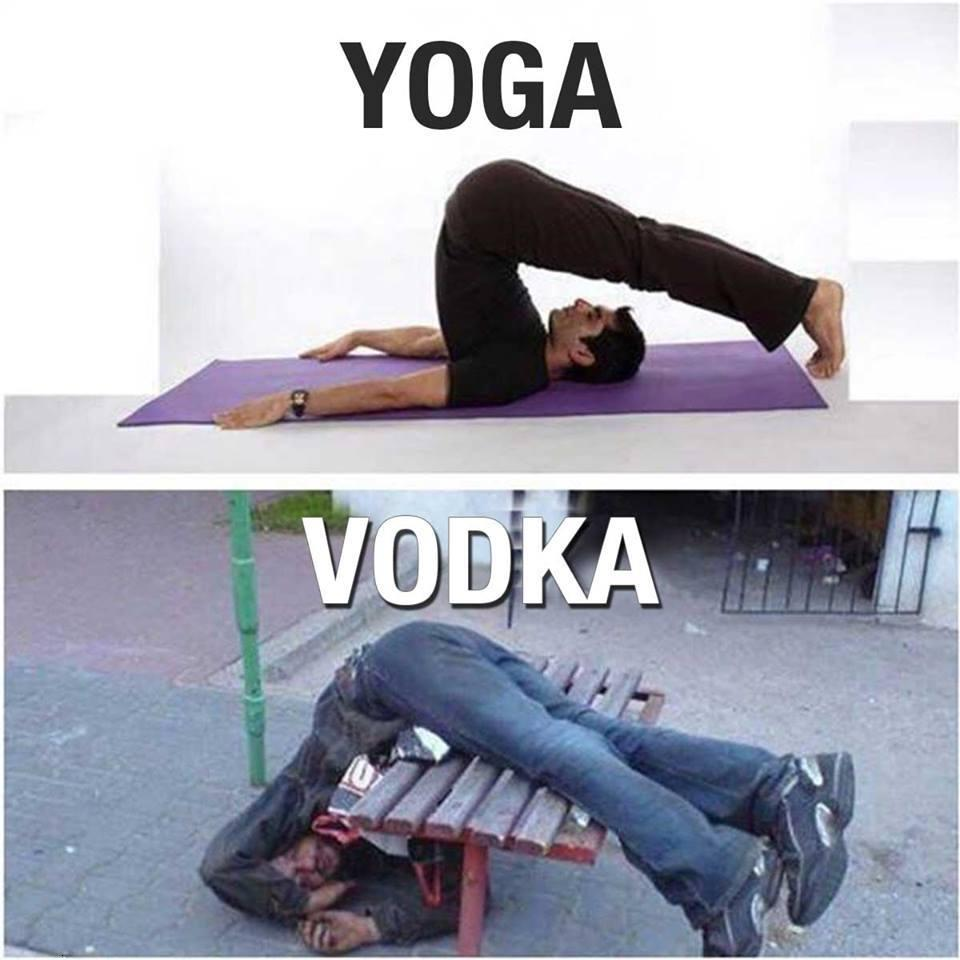 Funny vodka vs yoga difference ,wide,wallpapers,images,pictute,photos