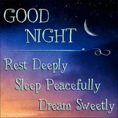 Good night sweet dreams quote wallpaper