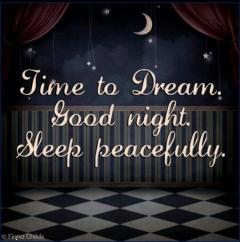 Time to dream good night