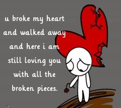 Broken pieces of heart