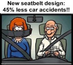 New seat belt design for less accidents funny wallpaper