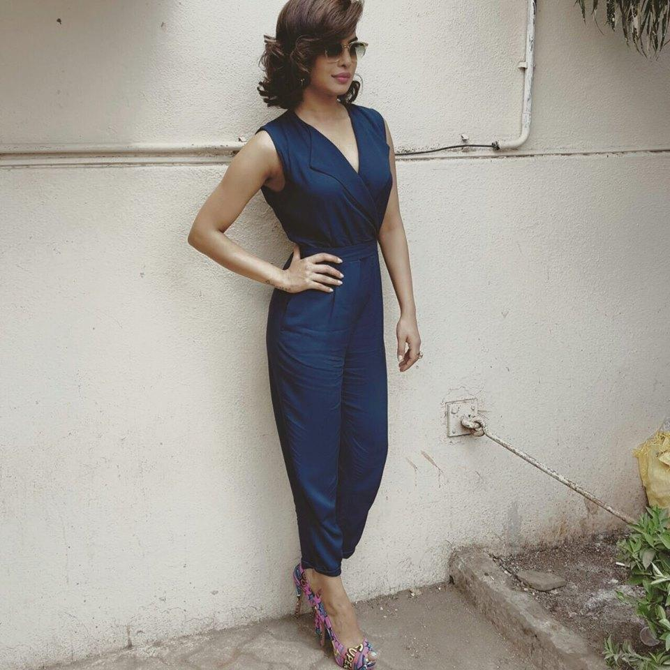 Priyanka in blue