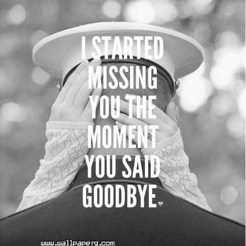 I started missing you