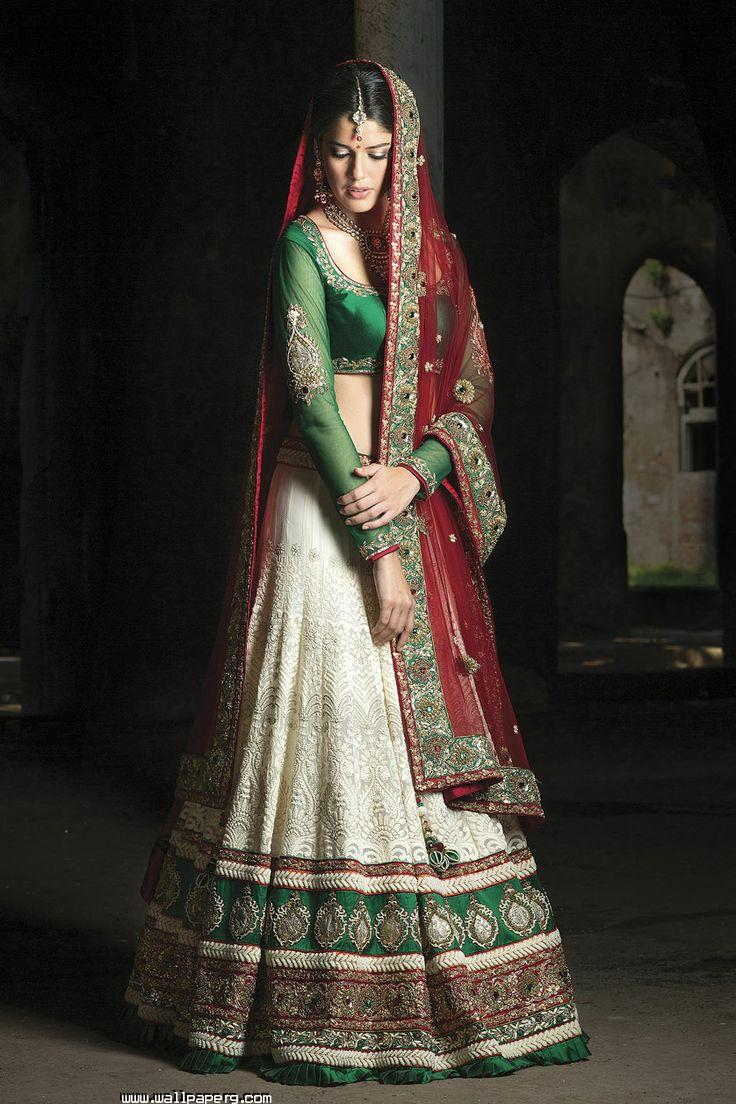 download indian bridal dress green - wedding bride and her dress for