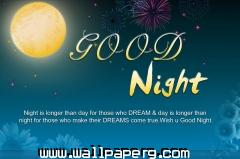 Good night dreams hd quote wallpaper