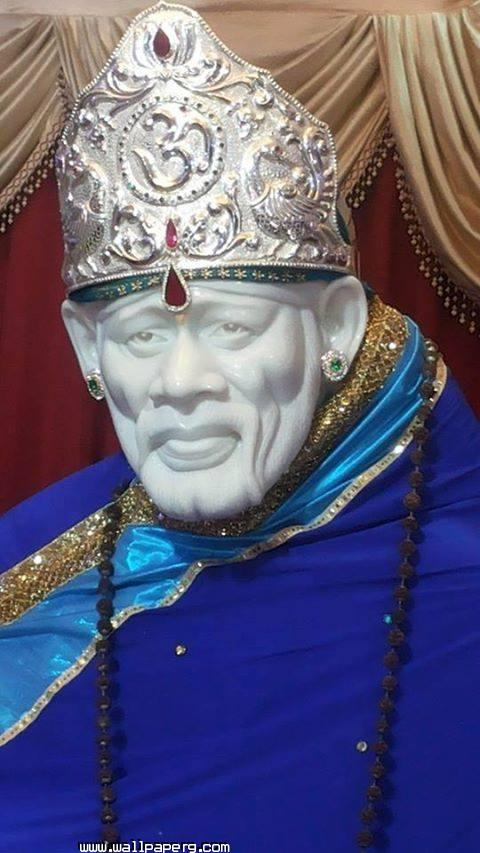 Sai nath in blue ,wide,wallpapers,images,pictute,photos