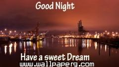 Good night have a sweet dream quote wallpaper