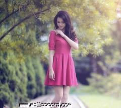 Beautiful girl in pink dr