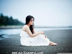 Girl sitting on the beach wallpaper ,wide,wallpapers,images,pictute,photos
