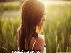 Girl in grass field wallpaper ,wide,wallpapers,images,pictute,photos