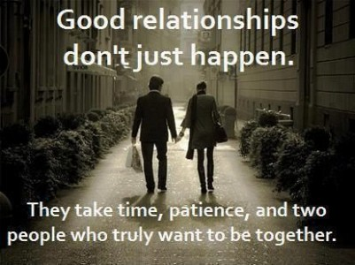 Good relationships do not