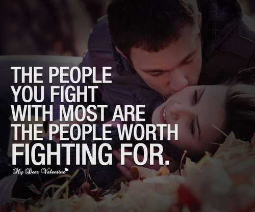 Love worth for fighting quote image