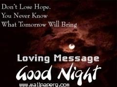 Loving message good night