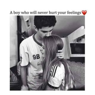 A boy never hurt your feeling quote image