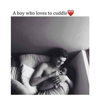A boy who love u cuddle quote image