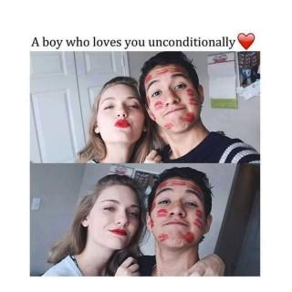 A boy who loves u unconditionally love quote image