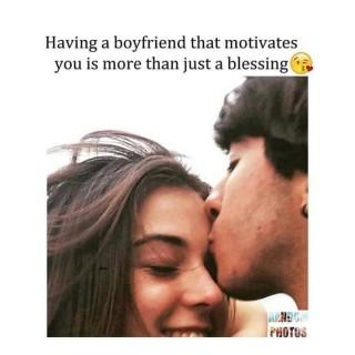 A boyfriend that motivates you hd quote image ,wide,wallpapers,images,pictute,photos