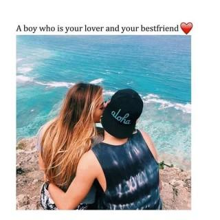 Your lover and best friend love hd quote image