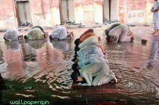 Prayer in rain