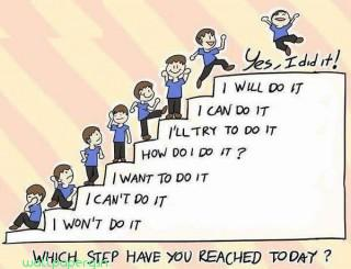 Steps of success encouraging quote