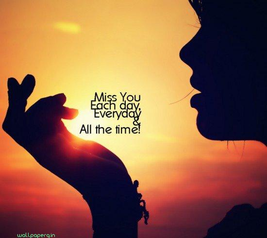 Miss you each day everyday hd miss you wallpaper